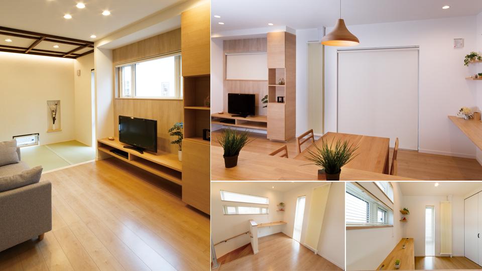 高森ホーム西大野展示場 新発想冷暖房クール暖 清涼と陽だまりの家